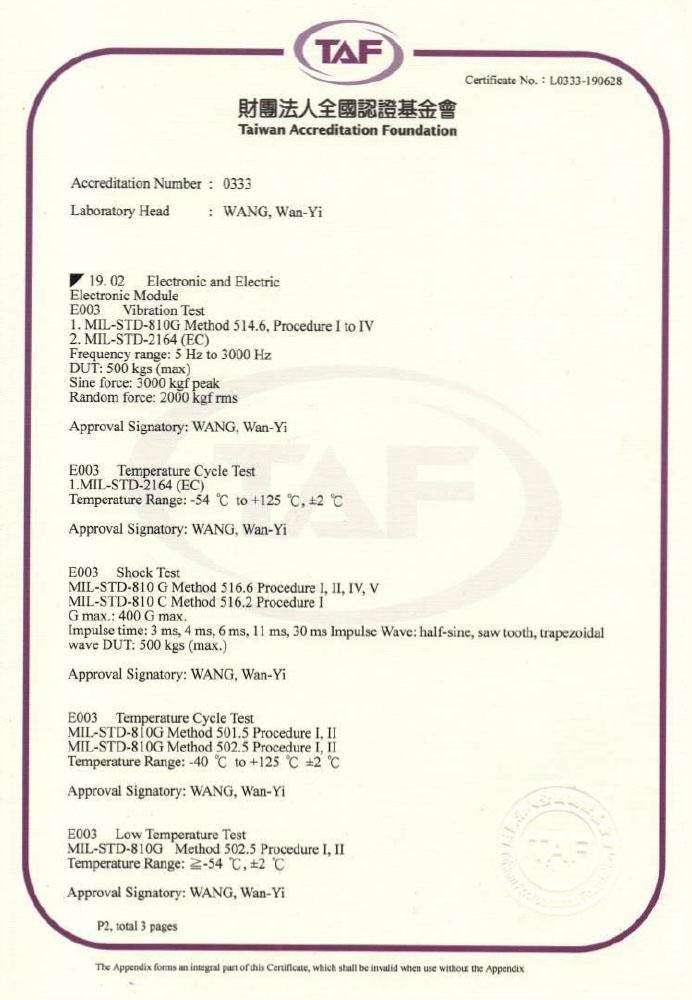 台威TAF證書(105-108)英_2/3頁